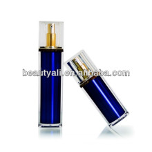 30ml 50ml Luxury Lid Square Blue Cosmetic Pump Airless Bottle