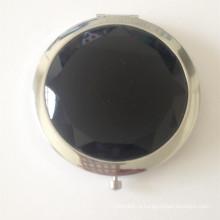 Черное Кристаллическое Косметическое Карманное Зеркало (BOX-16)