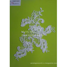 Белый шнур кружевной ткани с жемчугом тюль кружевной ткани для свадебного платья CMC382B-р для новобрачных