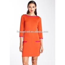 новые женские 100% кашемир вязаный платье