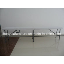 6ft Popular Plastic Folding Bench for Outdoor Use
