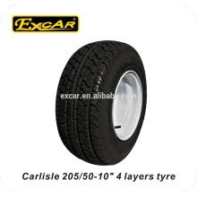 rodas de carrinho de golfe elétrico, rodas de carro clube de 10 polegadas, pneu Carlisle