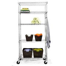 Регулируемая стеллаж для хромированной проволоки для гостиничной кухни и холодильной камеры