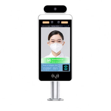 Floor standing 8.0 LCD  screen temperature face recognition detection and face recognition display Used in factory
