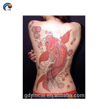 Animal Full Cool Voltar Adesivo Tatuagem para o homem e as mulheres, tatuagem temporária falsa para a pele