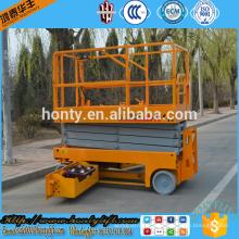 custom aluminum pallet self propelled electrical scissor lift platform