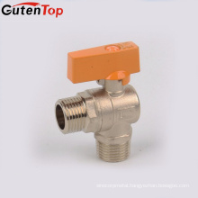 LB Guten top gas shut off valve supply open brass washing angle ball valve