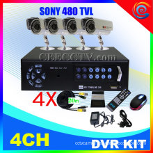 4 Ch Cctv Dvr Kit 8 Ir Cameras H.264 Cctv System Cee-dvr-7004c910