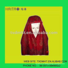 Écharpe pashmina tête de mode rouge avec artisanat jacquard