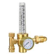 Regulador de gás com medidor de vazão