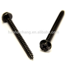 Black Stainless Steel Hex Cap Self Tapping Machine Screw