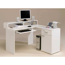 Amazing White Computer Desks in L Shape Design Ideas (HF-D001)
