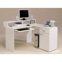 Удивительные белые компьютерные столы в L Design Design Ideas (HF-D001)