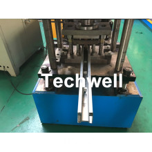 Galvanized Steel Profile Roller Shutter Door Guide Rail Roll Forming Machine With PLC Touch Screen Control