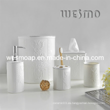 Set de baño floral de porcelana (WBC0595B)