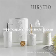 Conjunto de banho de porcelana floral (wbc0595b)