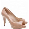 Beverley nude women platform dress shoes
