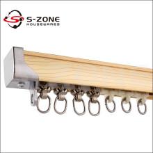 S-ZONE Rideau de décoration en aluminium glissant rideaux de voie droite