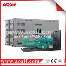 Générateur d'énergie alternative à faible bruit mobile 1375kva avec moteur cummins