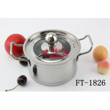 Stainless Steel Double-Ar Pan with Lid (FT-1826)