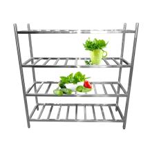 Tipo de escada de aço inoxidável Rack de armazenamento de quatro camadas