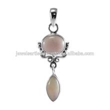 Schöne rosa Opal Edelstein 925 Sterling Silber Anhänger Schmuck