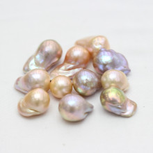 13-15mm Multi-Color Aaaa Grade Barouque Nucleated Pearl Beads Wholesale