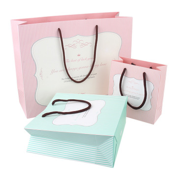 Custom LOGO Printed Shopping Paper Bag With Handles