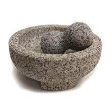 Mortier et pilon Molcajete de granit de 8 pouces