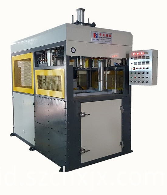 Fully automatic thick sheet vacuum forming machine