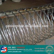 Alambre de hierro galvanizado de alta calidad / alambre de maquinilla de afeitar