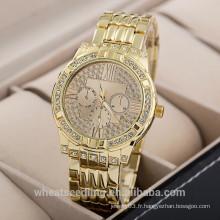 Gold Watch For Men Luxury Tous les montres en quartz en acier inoxydable pour hommes