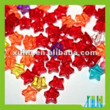 estrela transparente grossa em forma de grânulos acrílicos várias cores