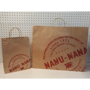 Shopping bag in carta kraft marrone NANUNANA