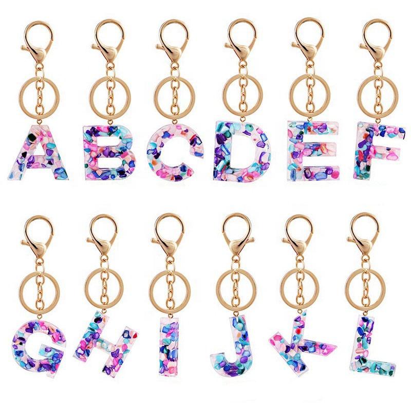 Initial Acrylic Keychains
