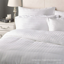 Paper White Twin Size White Stripe Top Bed Sheets