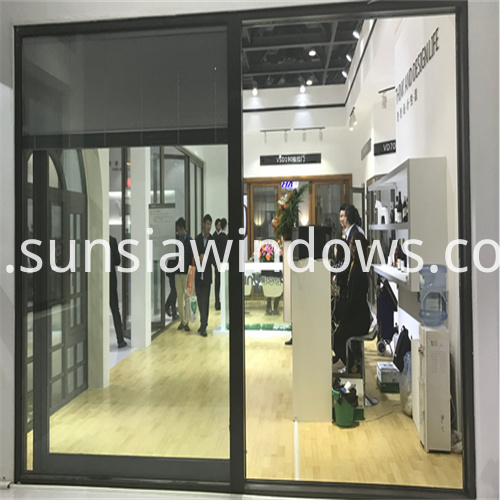 Shutter inside glass panel door