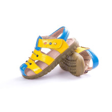 Leather Upper Rubber Outsole Sandals Shoes for Children