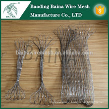 hand woven stainless steel wire rope mesh net basket