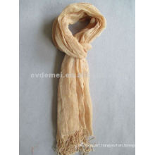 solid color linen scarf/long scarf