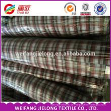 100% Baumwolle Garn gefärbtes Gewebe Vollständig Waren auf Lager Garn gefärbt Shirt Stoff Garn gefärbt Shirt Plaid Stoff