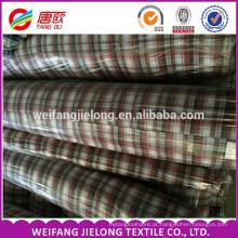 100% algodão fio tingido tecido tecido Totalmente bens em estoque fio tingido tecido de lã fio tingido camisa xadrez tecido