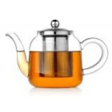 High Borosilicate Heat Resistant Glass Teapot with Filter Wholesale (mouth-blowning, 1000ml)