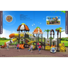 2015 New design two roofs colorful outdoor toy children outdoor playground