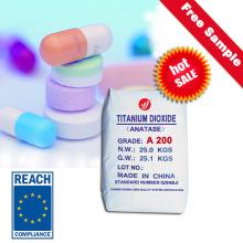 Pharmaceutical Raw Material Anatase Titanium Dioxide TiO2 (A200)