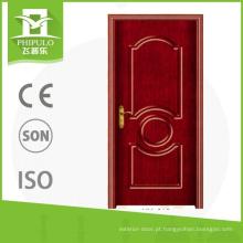 Porta de madeira exterior do pvc do projeto exterior da porta da porta com isolação térmica feita na porcelana