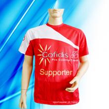 T-shirt de impressão 100% homem de poliéster
