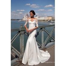 Vestido De Noiva Designer Robe de mariée de luxe à manches longues Robe de mariée en dentelle Merdaid 2017 MW2189