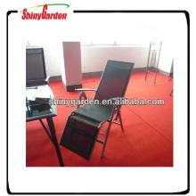 Verstellbarer Klappstuhl aus Aluminium mit Sonnenliege