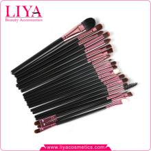 brosse cosmétiques oeil professionnel cheveux synthétiques de 20 morceaux